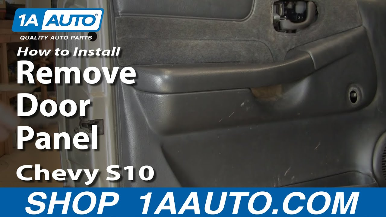How To Remove Door Panel 99 04 Chevy S10 Pickup 1a Auto