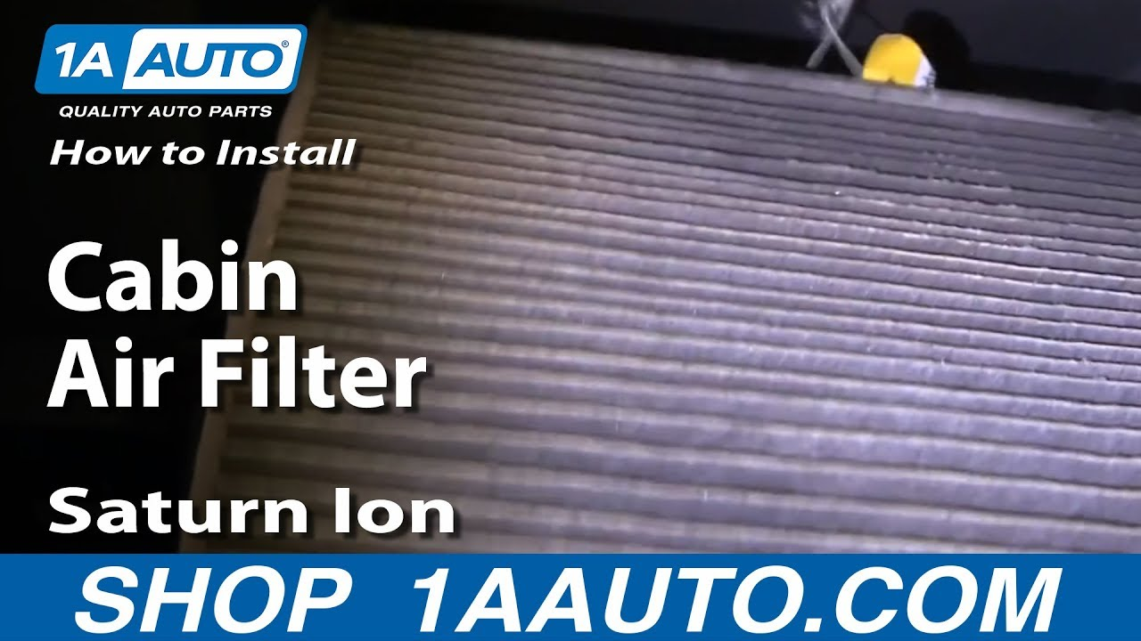 How To Replace Cabin Air Filter 03-07 Saturn Ion