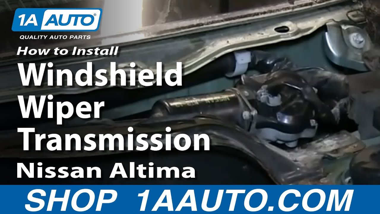 How to Replace Windshield Wiper Transmission Linkage 02-06 Nissan Altima