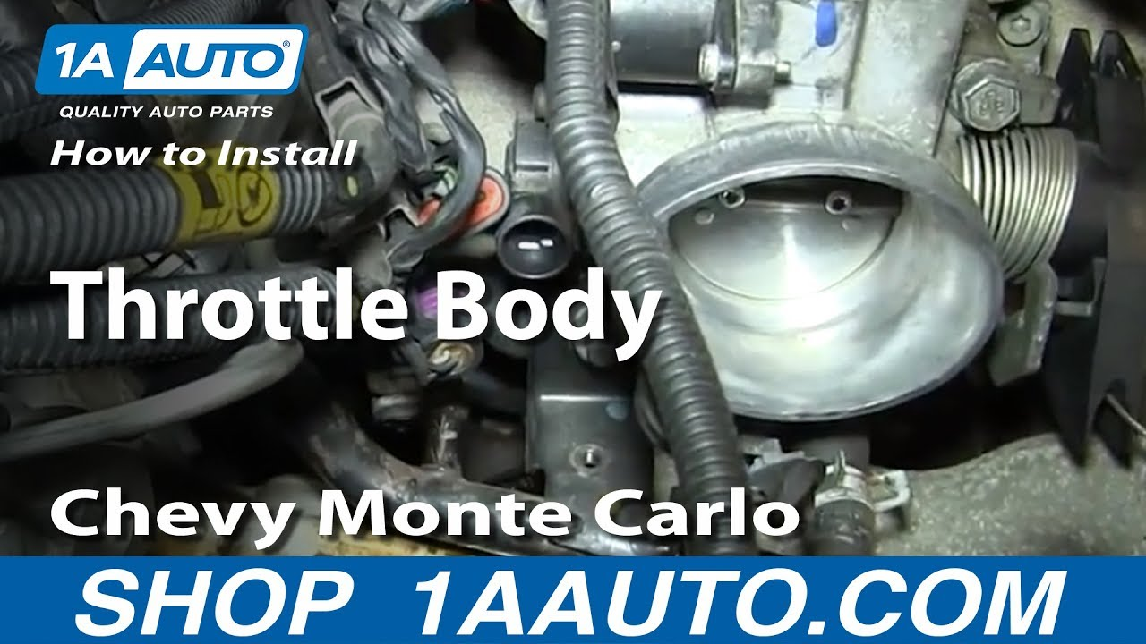 How To Replace Throttle Body 00-07 Chevy Monte Carlo