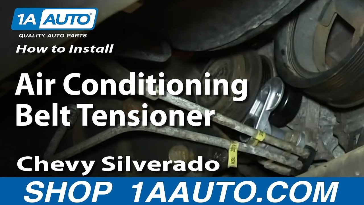 how to replace serpentine belt tensioner 99-08 chevy silverado 1500 | 1a  auto