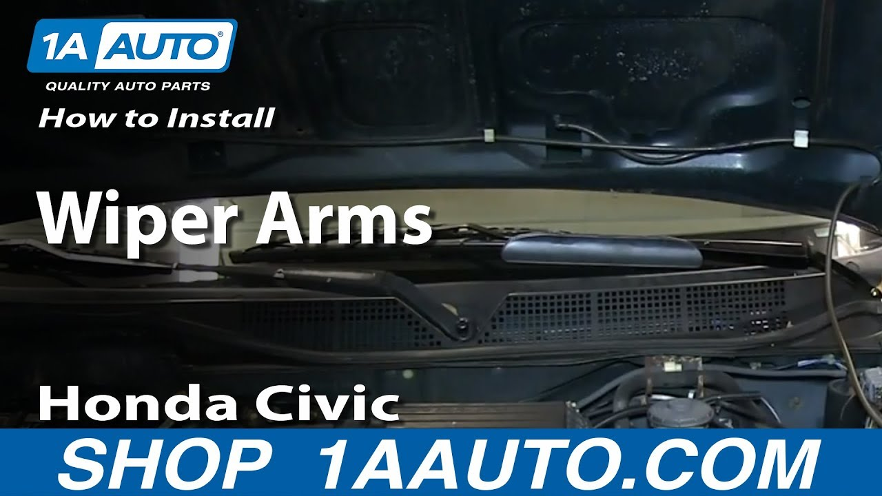 How to Replace Windshield Wiper Arm 96-00 Honda Civic