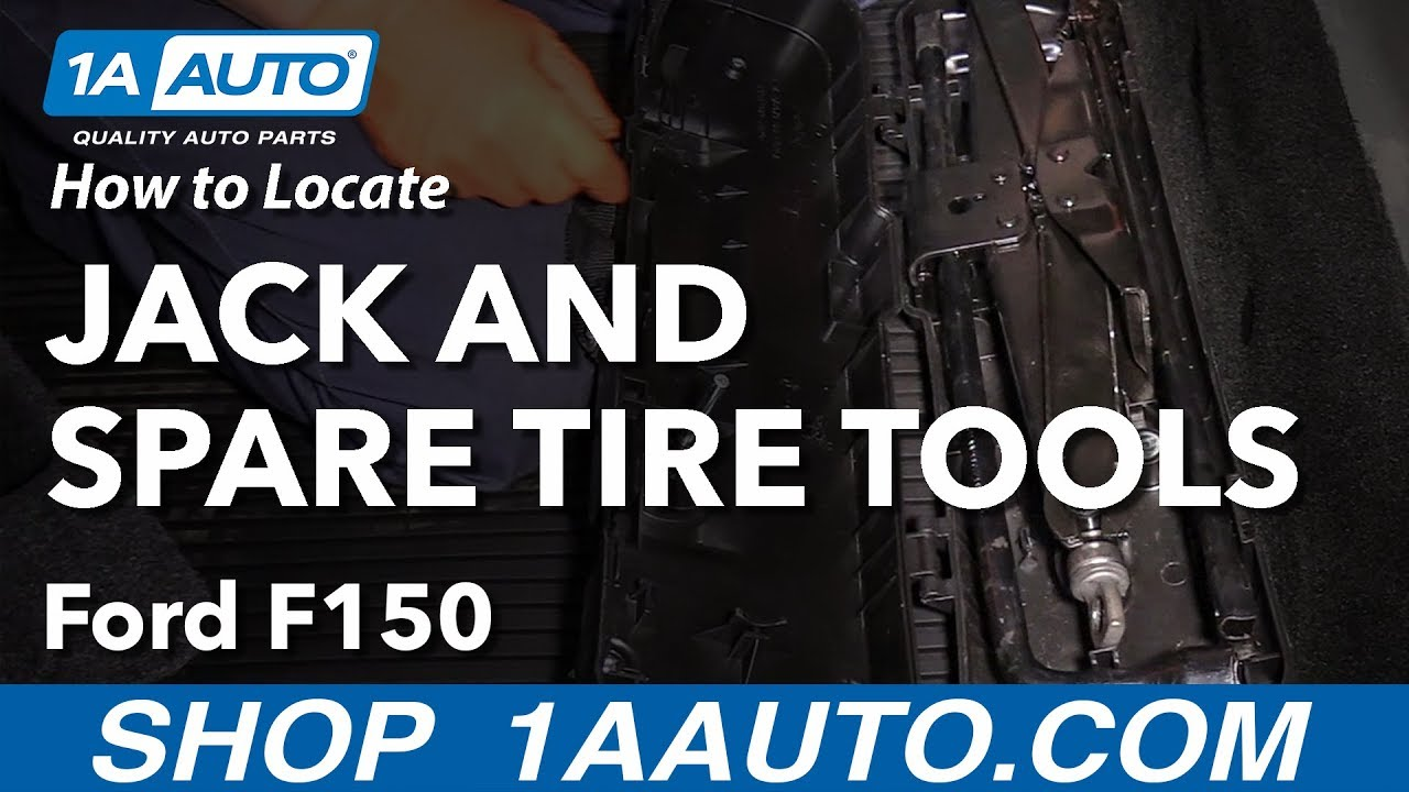 How to Locate Jack and Spare Tire Tools 09-14 Ford F-150