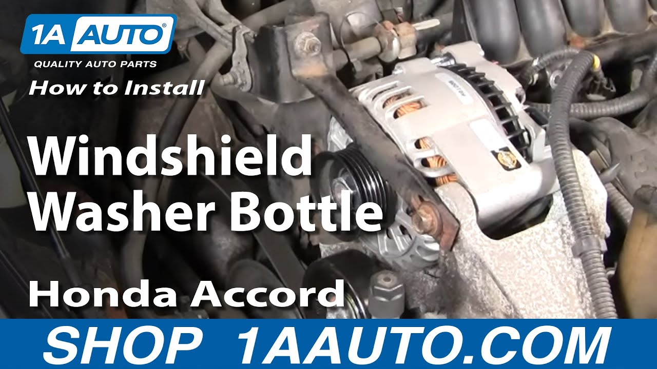 How To Replace Windshield Washer Bottle 94-97 Honda Accord