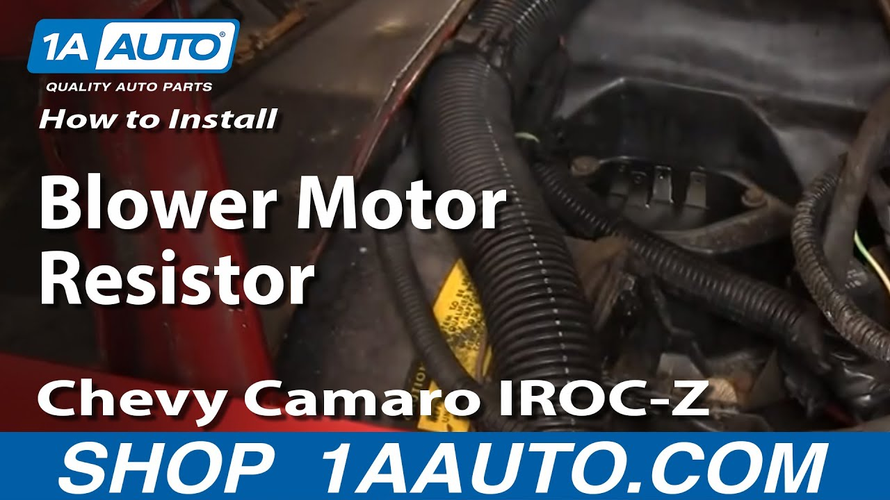 How to Replace Blower Motor Resistor 82-92 Chevy Camaro