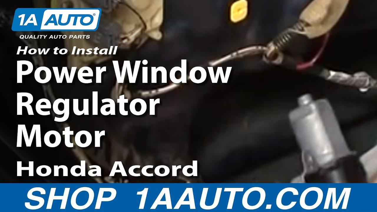 How To Replace Window Regulator 98 02 Honda Accord 1a Auto