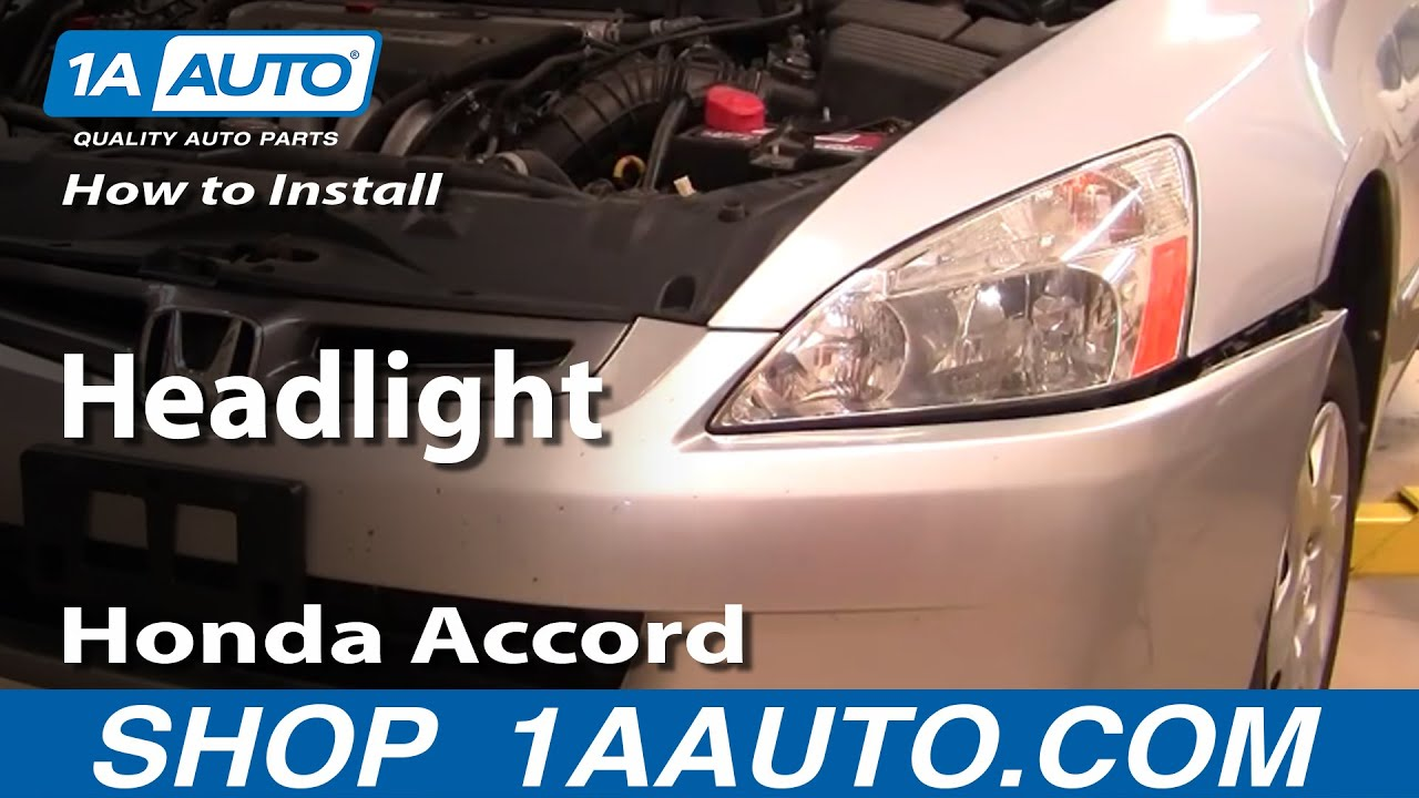 How to Replace Headlight 03-07 Honda Accord