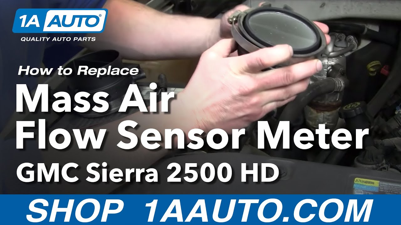 How to Replace Mass Air Flow Sensor Meter 01-06 GMC Sierra 2500 HD