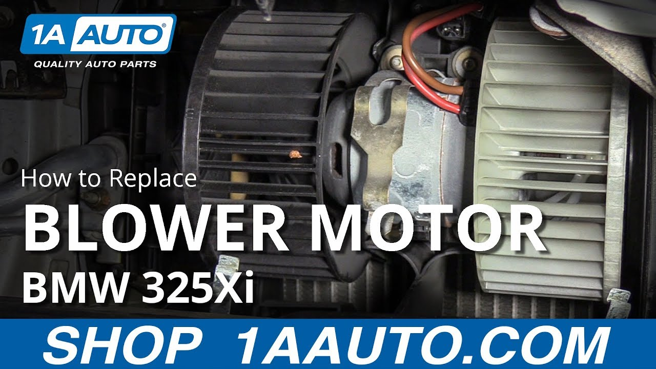 How to Replace Blower Motor 97-06 BMW 325Xi