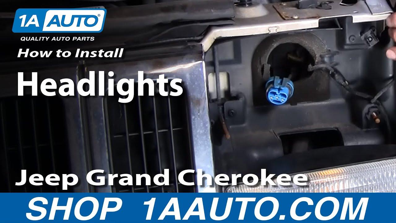 94 jeep cherokee headlight wiring diagram