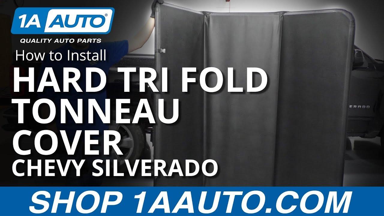 How to Install Hard Tri Fold Tonneau Cover 14-19 Chevy Silverado