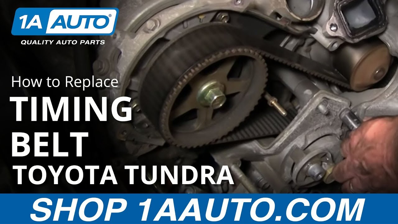 How To Replace 2002 Toyota Tundra Timing Belt V8 [PART 3]