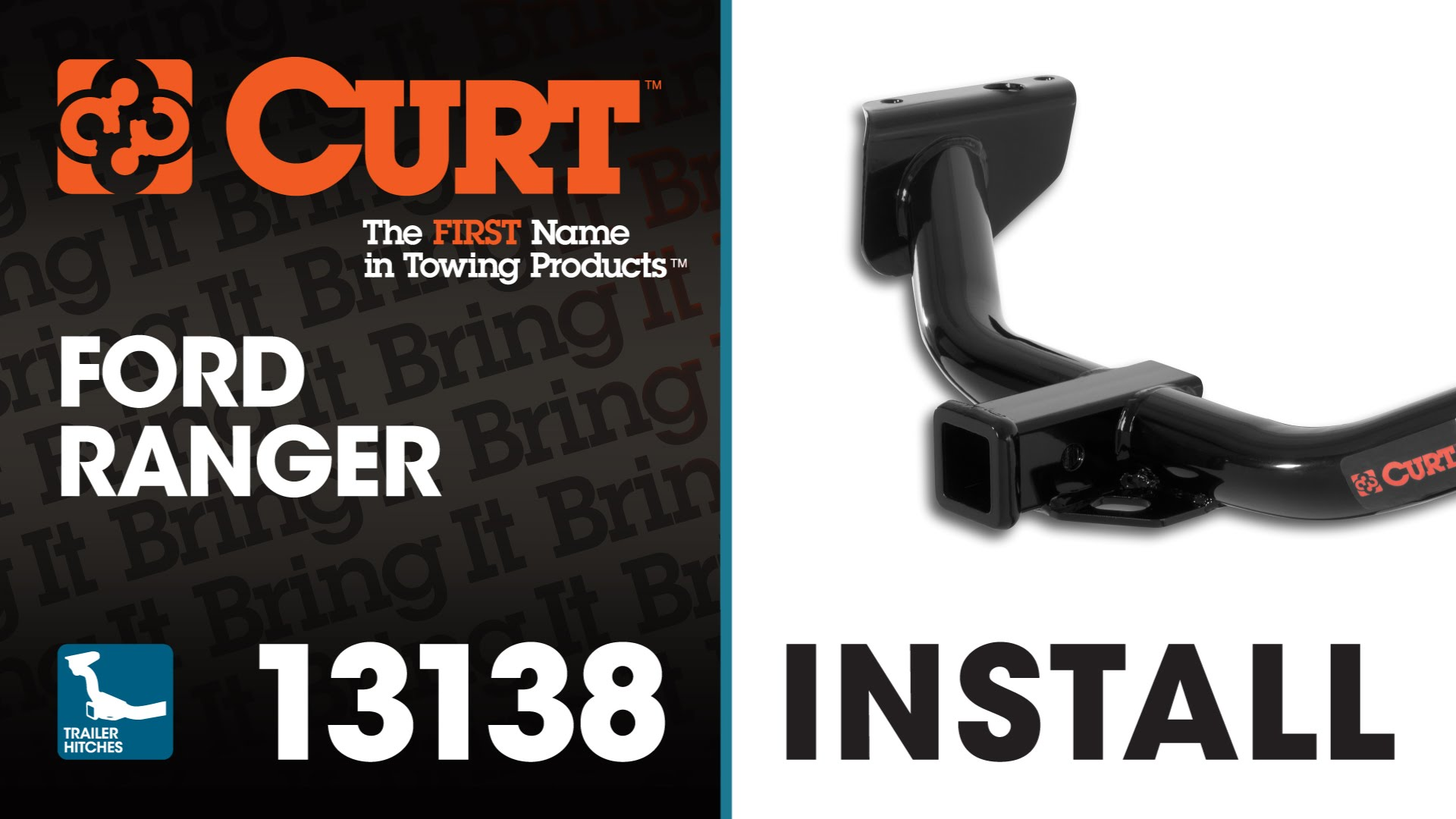 Trailer Hitch Install CURT 13138 on a Ford Ranger