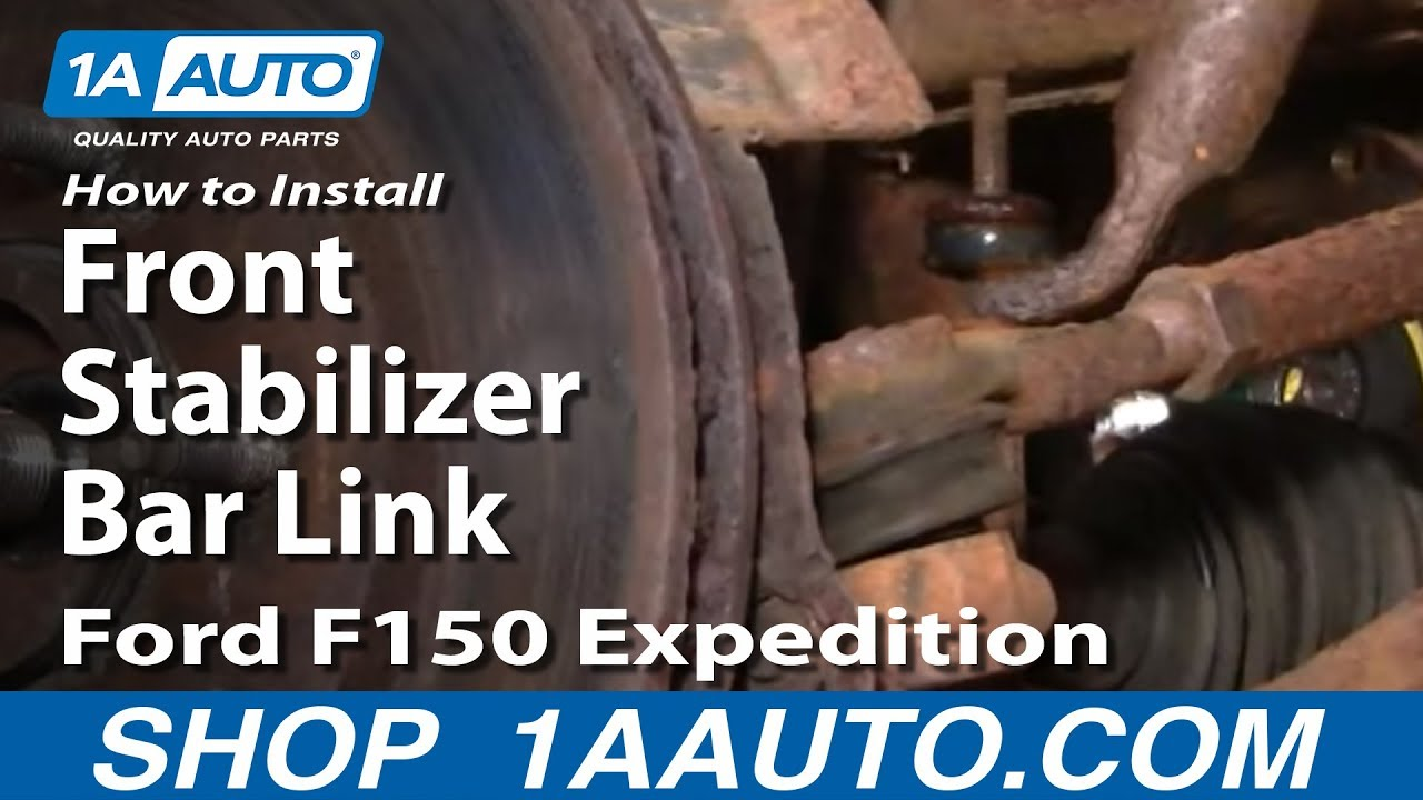 How To Replace Front Stabilizer Bar Link 97-02 Ford Expedition