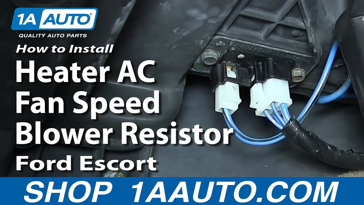 How to Replace Blower Motor Resistor 91-03 Ford Escort