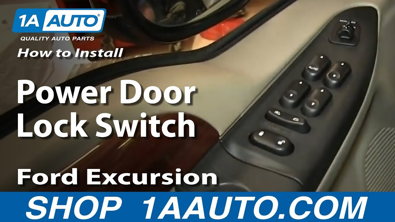How to Replace Power Door Lock Switch 02-05 Ford Excursion