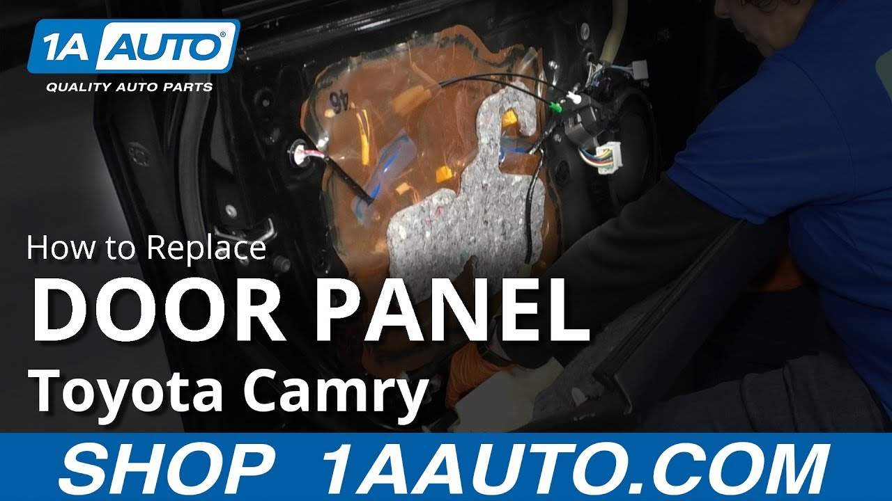 How to Replace Front Door Panel 11-17 Toyota Camry