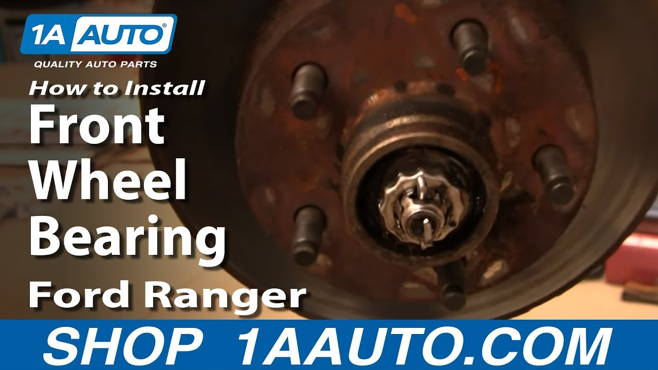 How to Replace Front Wheel Bearing 95-11 Ford Ranger 2WD [PART 1]