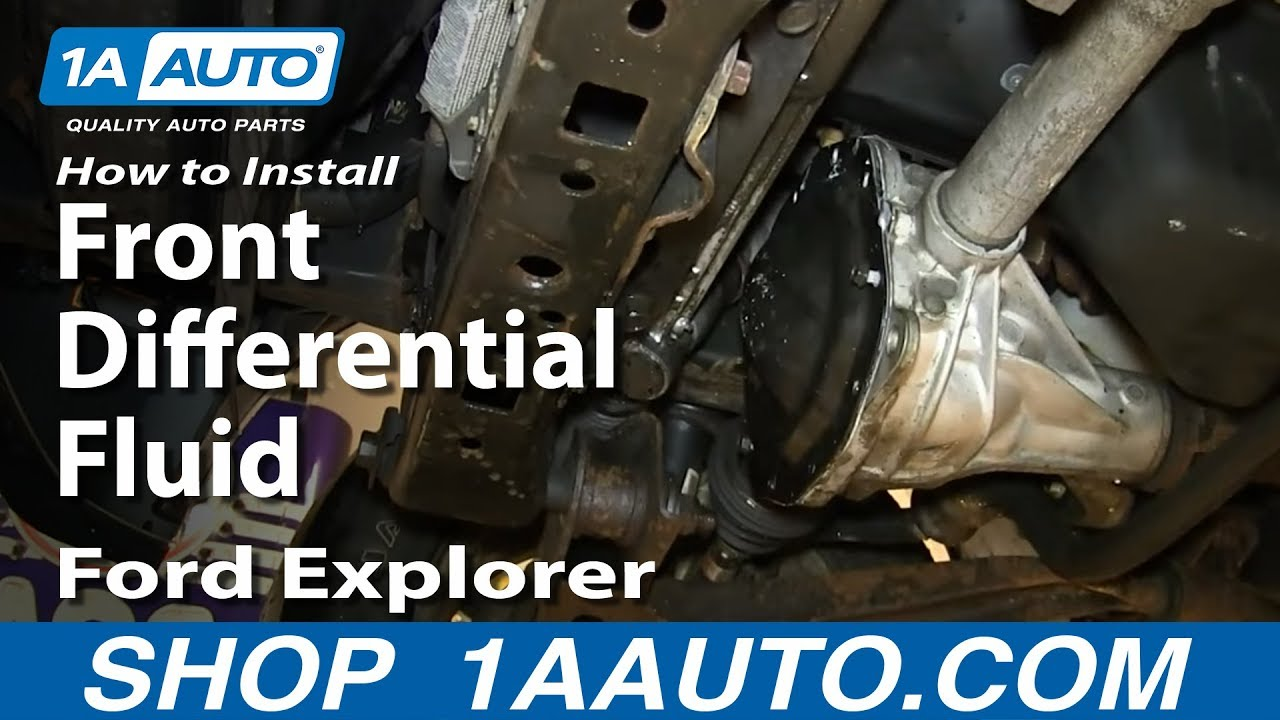 How To Change Front Differential Fluid 02 05 Mercury