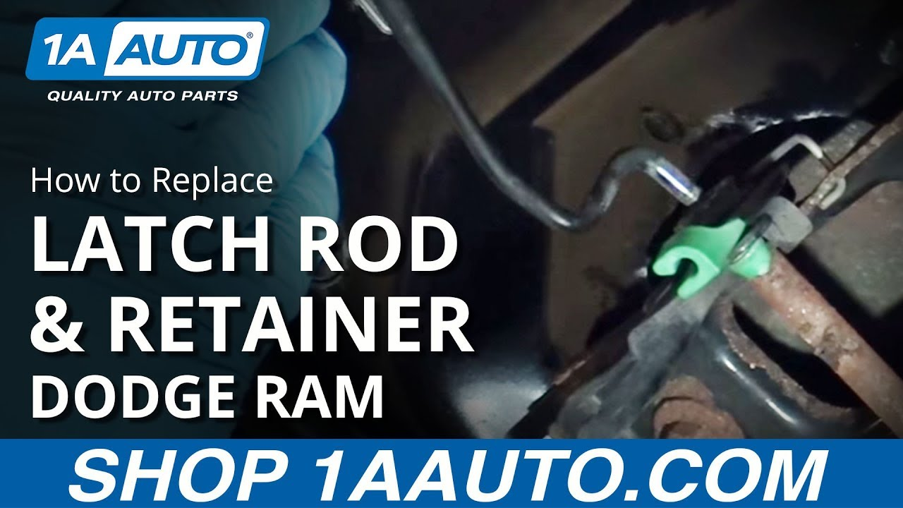 How to Replace Hood Latch Rod & Retainer 02-08 Dodge Ram