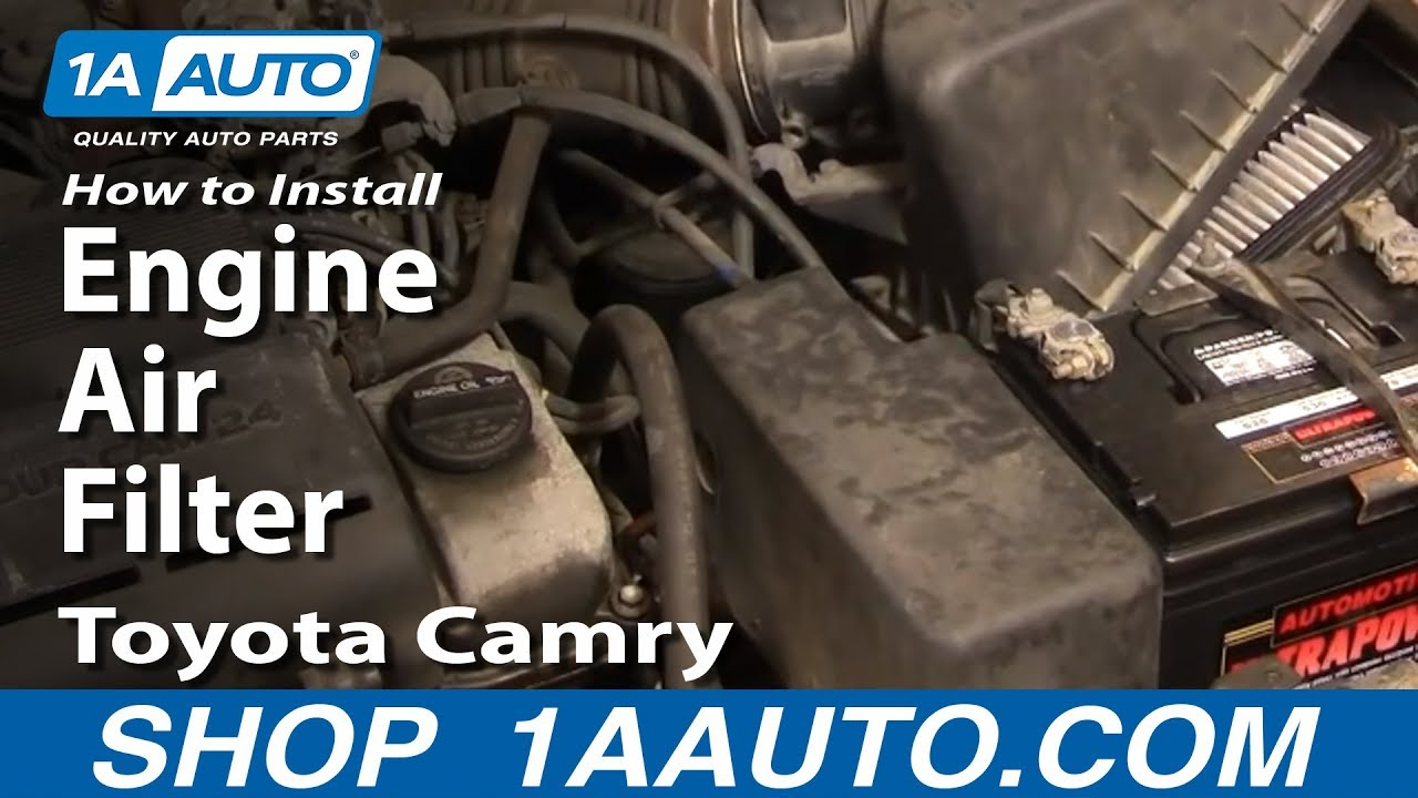 How To Replace Engine Air Filter 91-96 Toyota Camry