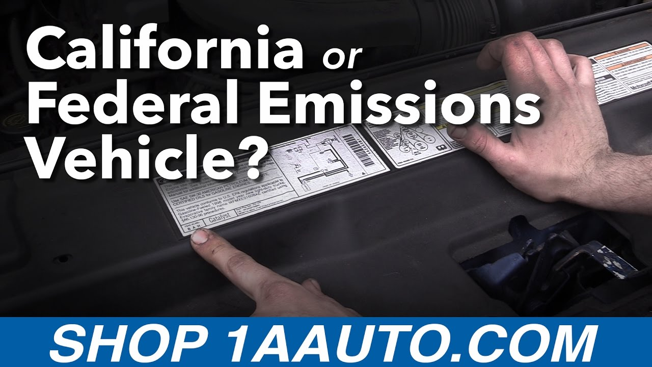 Is my Car a California or Federal Emissions Vehicle