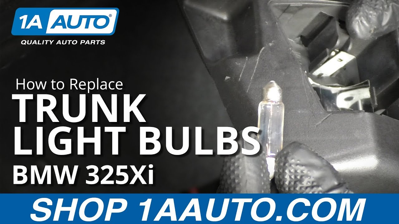 How to Replace Trunk Light Bulbs 97-06 BMW 325Xi