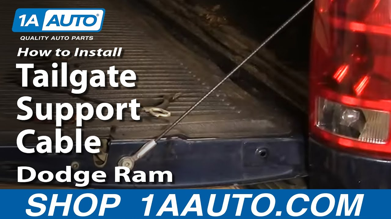 How to Replace Tailgate Cables 02-08 Dodge Ram 1500