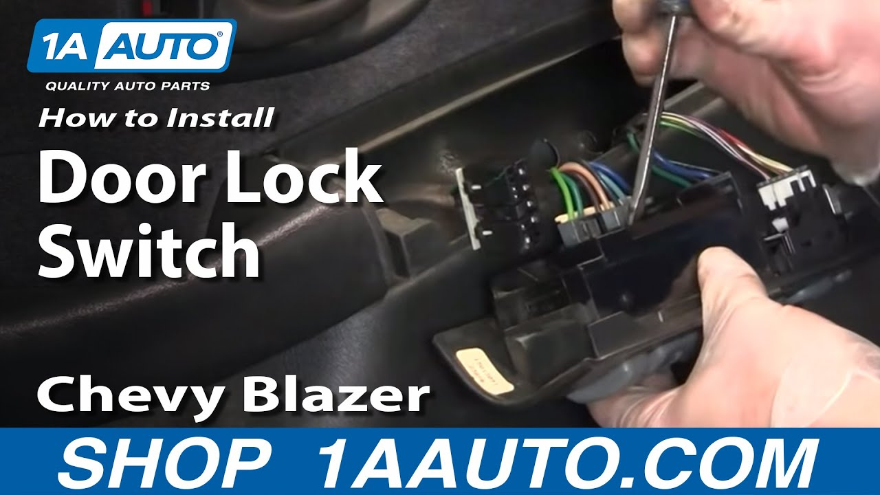 How to Replace Power Window & Door Lock Switch 95-05 Chevy Blazer S10
