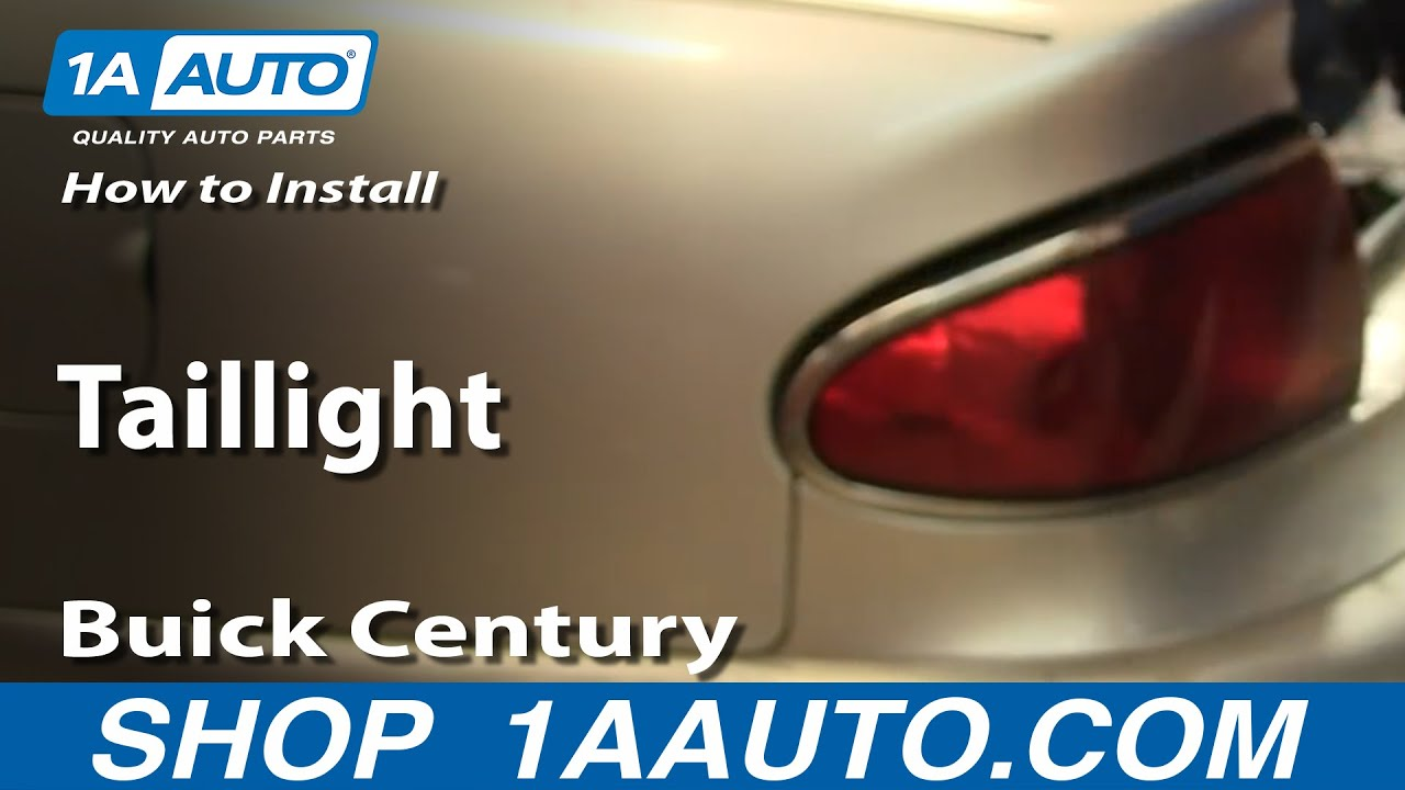 How to Replace Tail Light 97-05 Buick Century