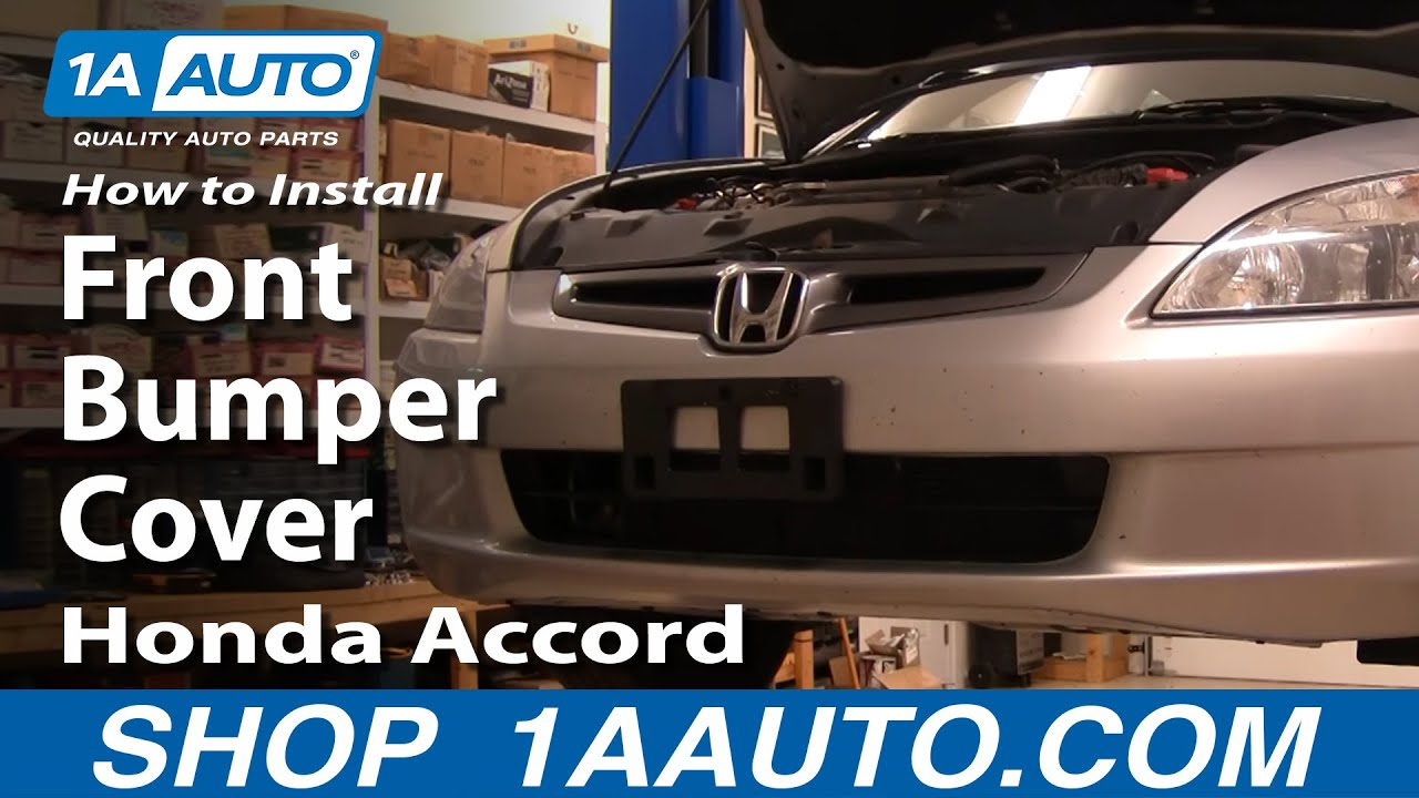 How To Replace Front Bumper Cover 04-07 Honda Accord
