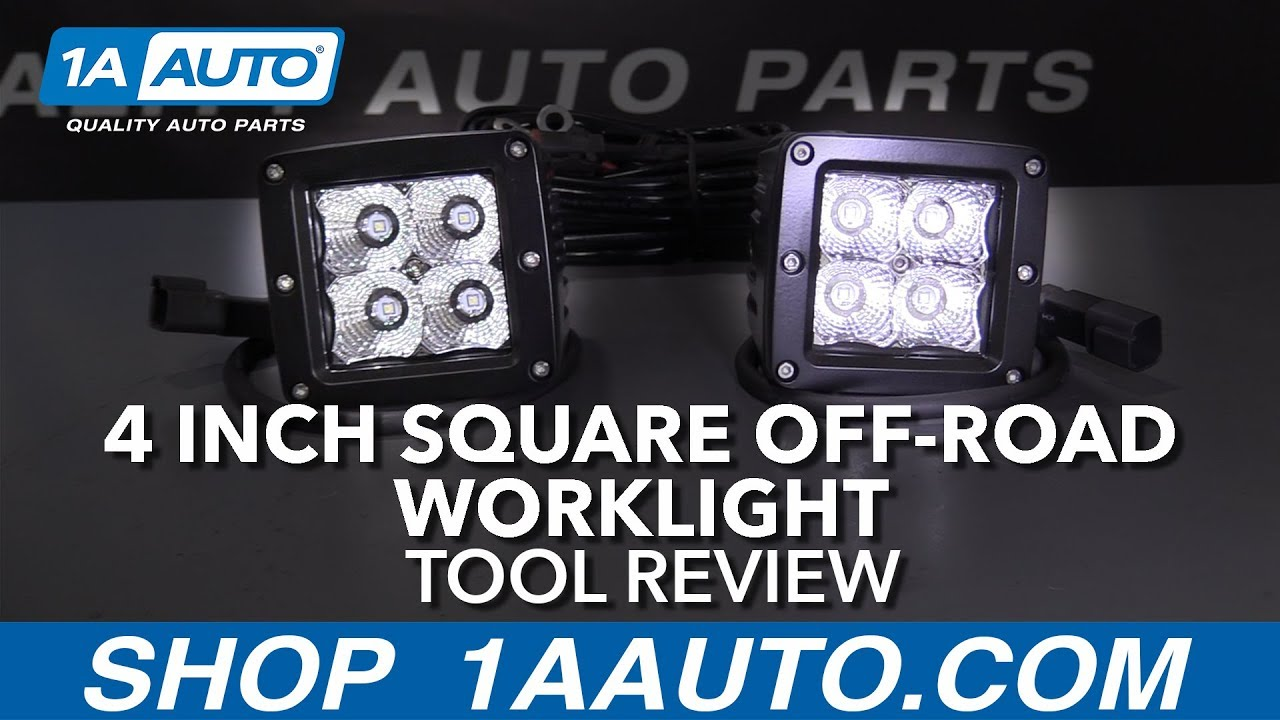 4 Inch Square Off-Road Worklight - Available at 1aauto.com