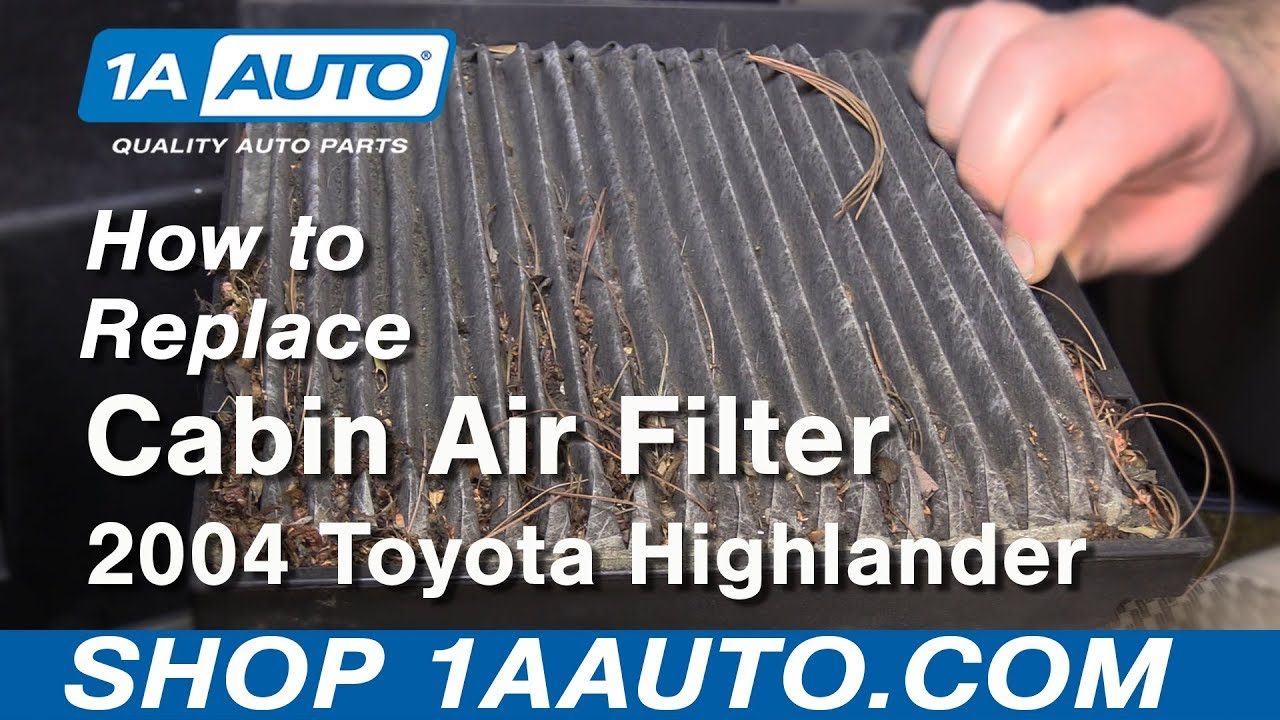 How to Replace Cabin Air Filter 00-07 Toyota Highlander