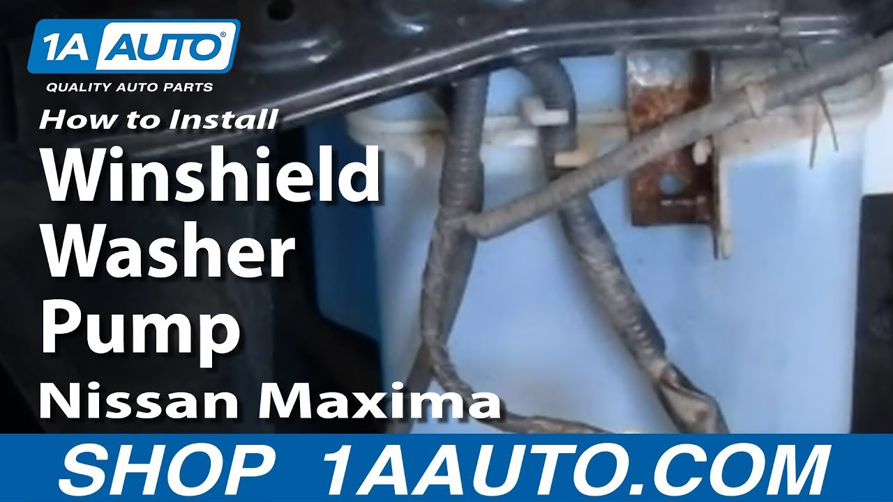 How To Replace Windshield Washer Pump 00-03 Nissan Maxima