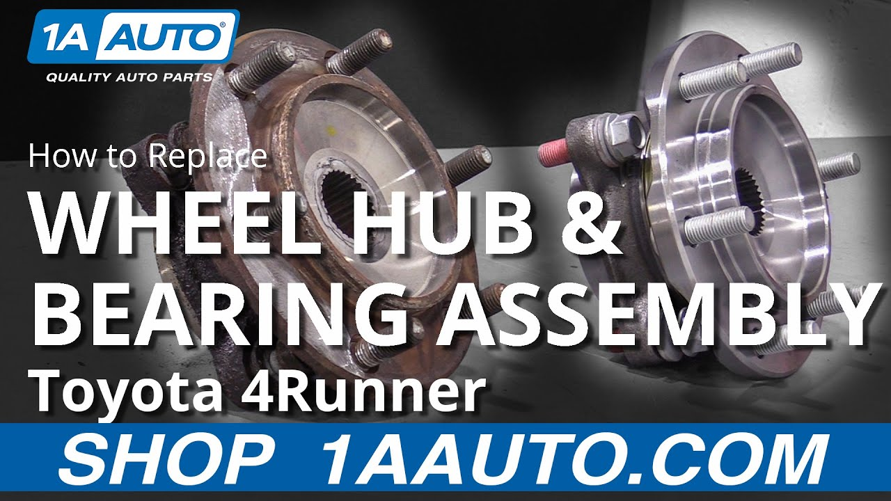 How to Replace Wheel Hub & Bearing Assembly 03-09 Toyota 4Runner