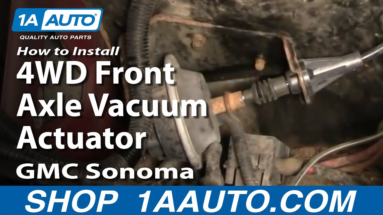 How to Replace 4WD Front Axle Vacuum Actuator 91-04 GMC S-15 Sonoma