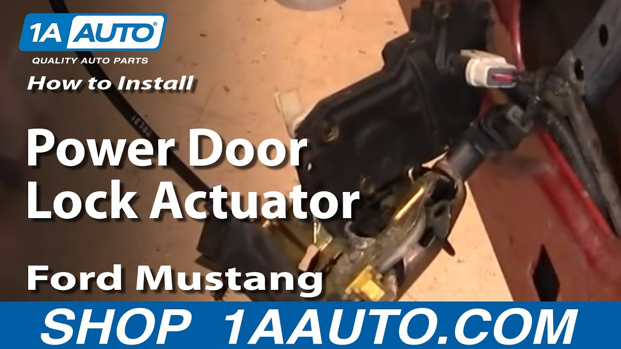 How To Replace Power Door Lock Actuator 99 04 Ford Mustang 1a Auto