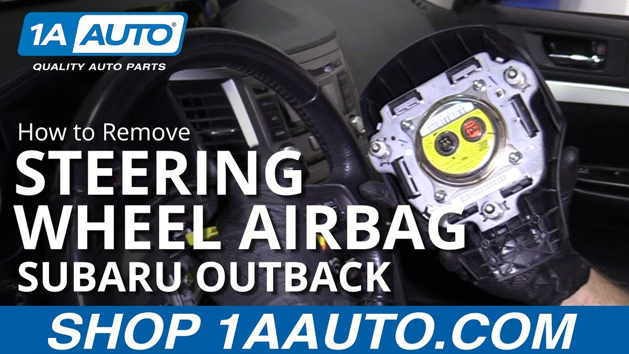 How to Remove Steering Wheel Airbag 10-14 Subaru Outback