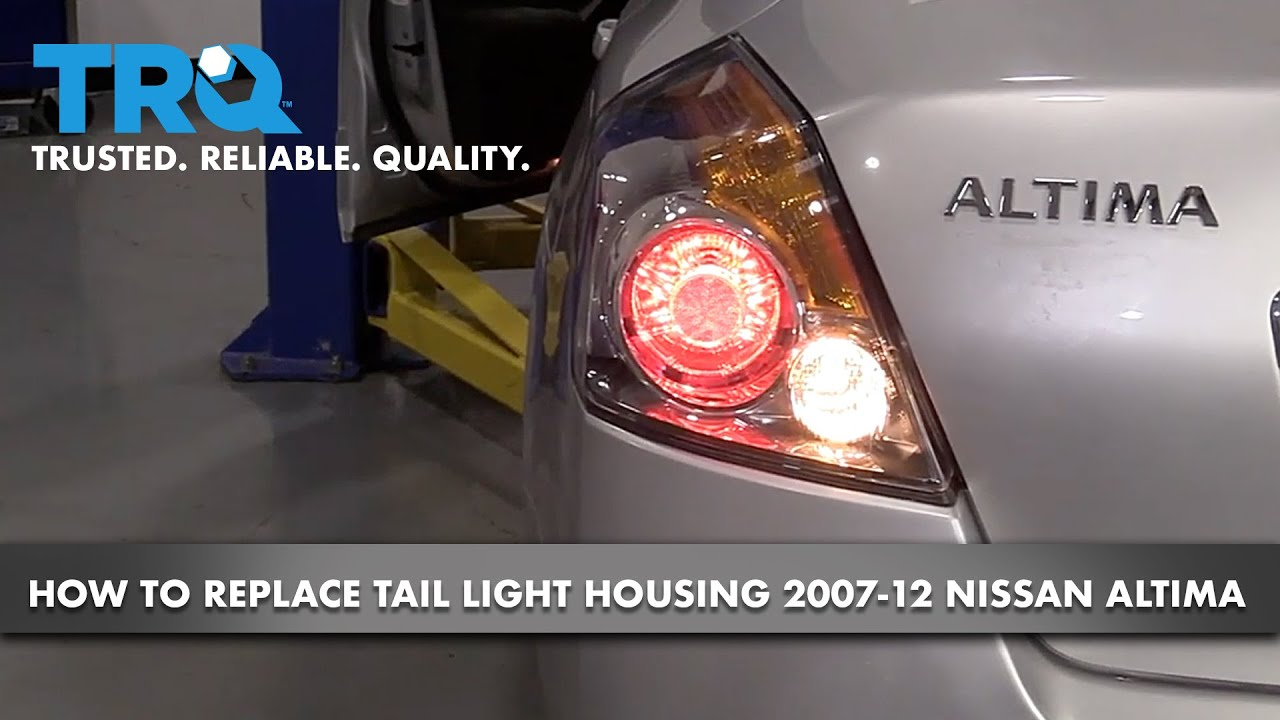 How to Replace Taillight Housing 07-12 Nissan Altima