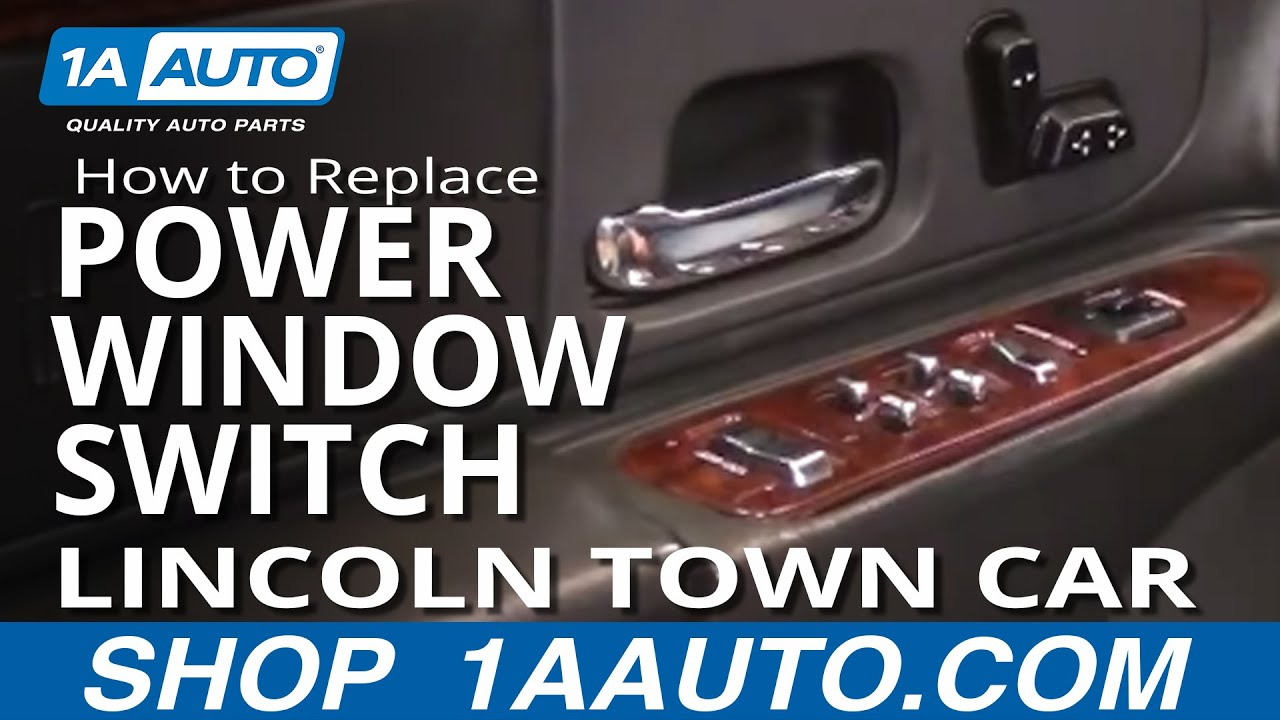 How To Replace Master Power Window Switch 98 02 Lincoln