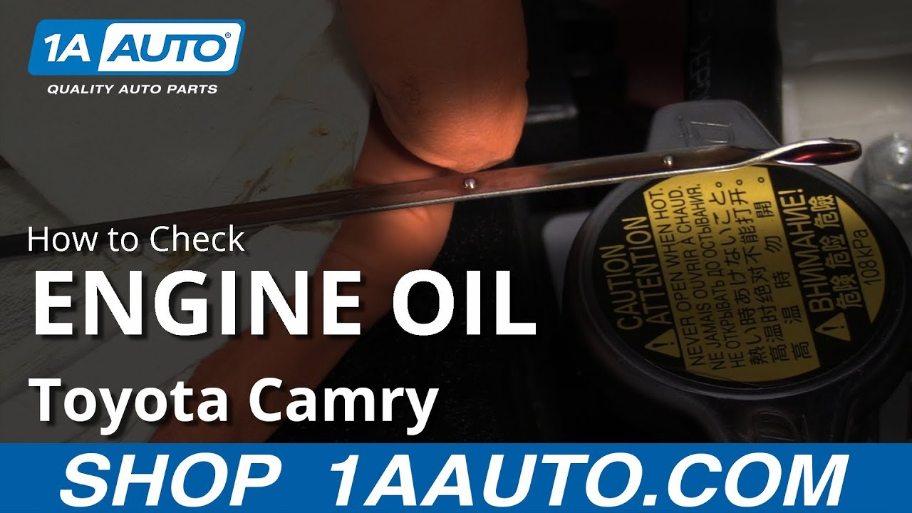 How to Check Engine Oil 11-17 Toyota Camry