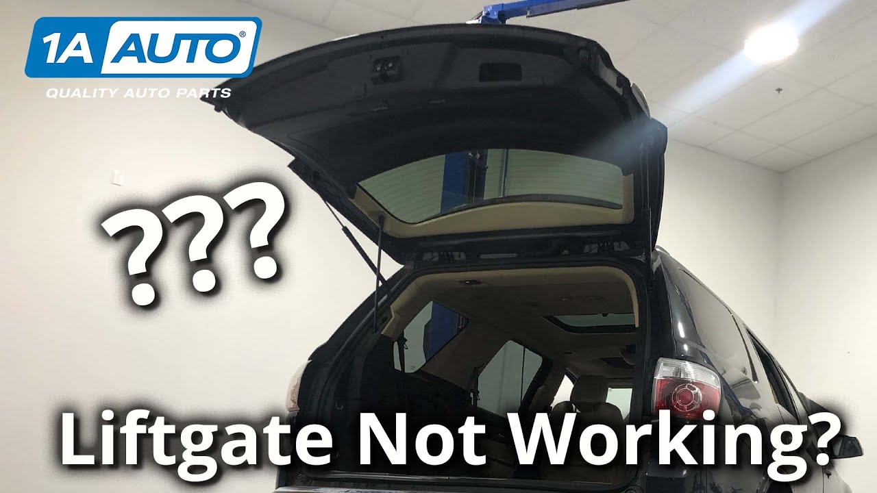 SUV Power Liftgate Wont Open Bad Switch or Latch How to Find Out