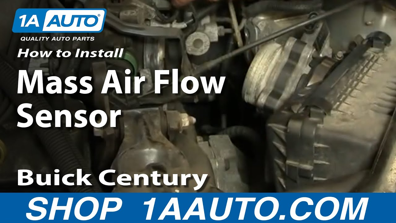 how to replace mass air flow sensor with housing 97 05 buick century