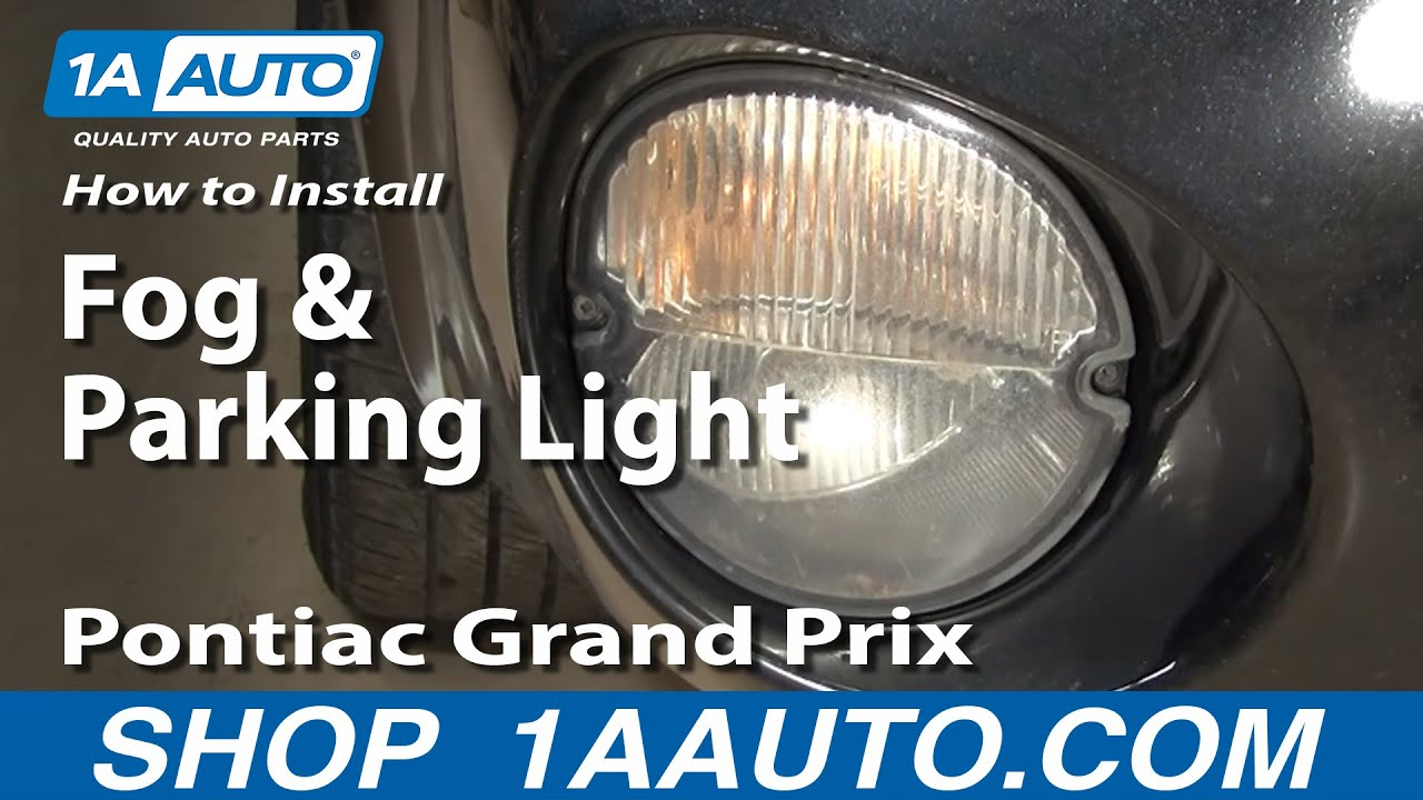 How to Replace Turn Signal Fog Driving Light 04-08 Pontiac Grand Prix