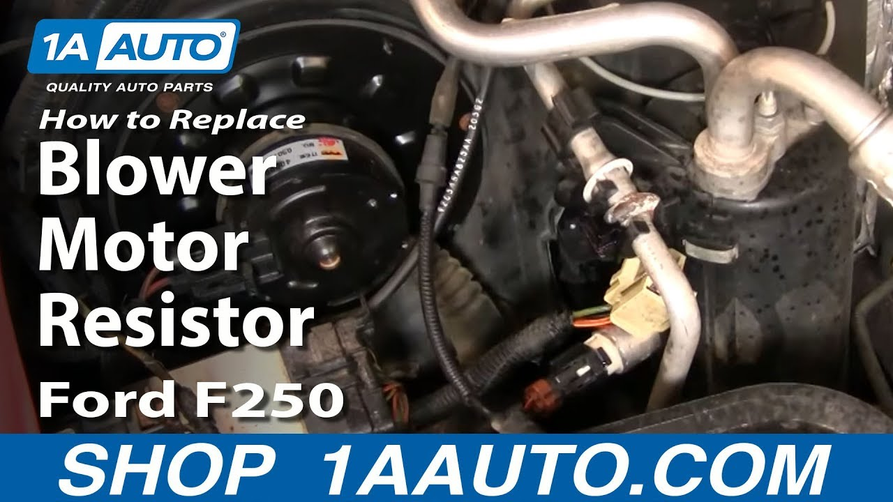 How to Replace Blower Motor Resistor 99-07 Ford F250 Super ...