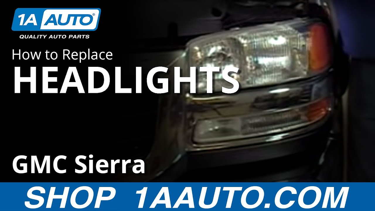 How to Replace Headlights 99-04 GMC Sierra 2500