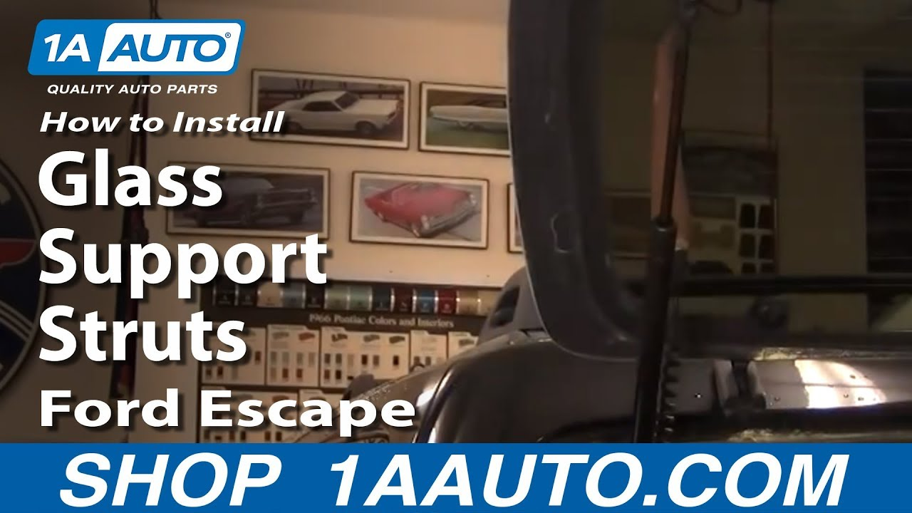 How To Replace Rear Glass Support Struts 01-07 Ford Escape