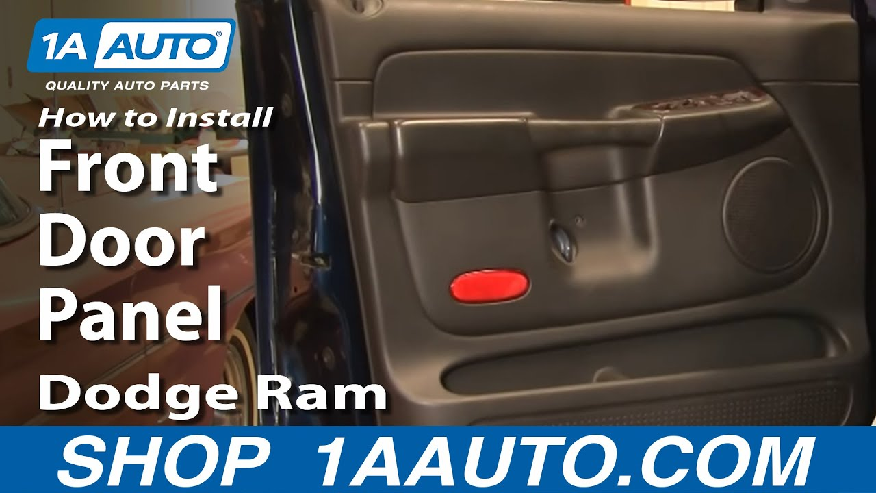 How To Remove Front Door Panel 02 08 Dodge Ram 1a Auto