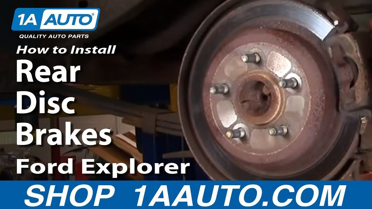 How to Replace Rear Disc Brakes 95-02 Ford Explorer Part 1
