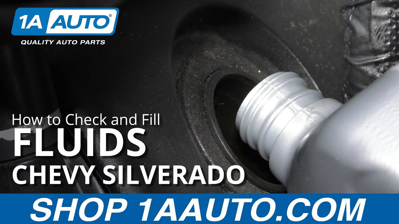 How to Check and Fill Fluids 14-19 Chevy Silverado